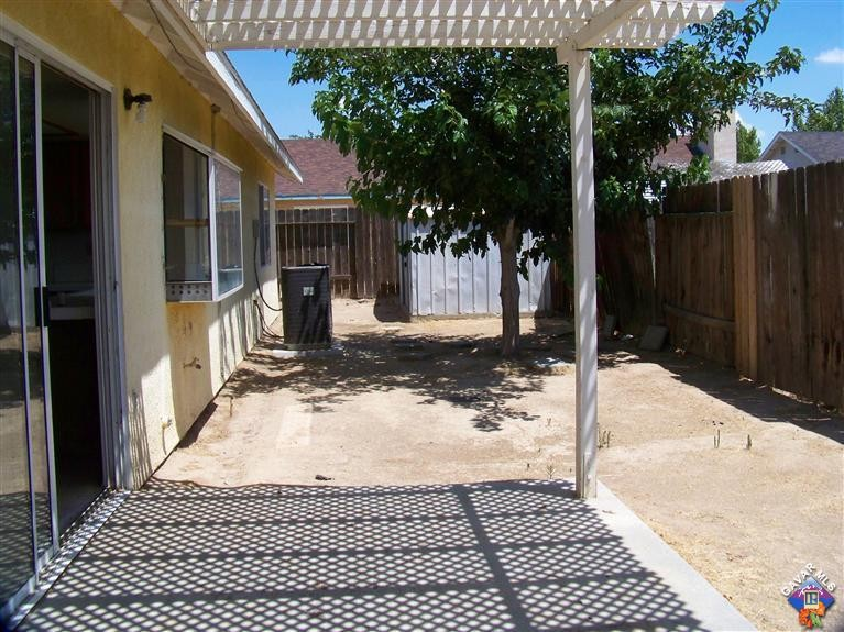 backyard with patio cover